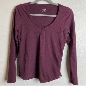 Horny Toad organic cotton long sleeve Henley top